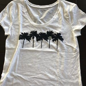 NWT white embroidered tee
